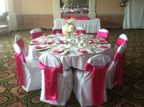 Begonia Fuchsia Wedding Linen Rentals Decor Dynasty Banquets Hammond Indiana