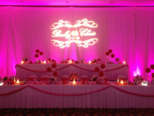Begonia Fuchsia Wedding Linen Rentals Decor